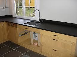 evier cuisine granit noir beautiful evier noir sur plan de travail noir pictures design