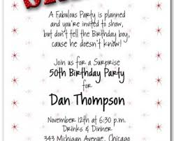 surprise 50th birthday invitations surprise 50th birthday