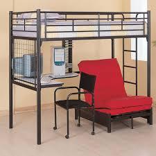 loft bunk bed with futon chair sams room home stuff