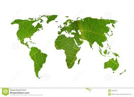 A World Map by Leaf With A World Map Stock Photos Image 22979573