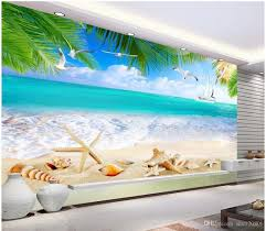 3d room 3d room wallpaper custom photo mural summer beach fresh ocean