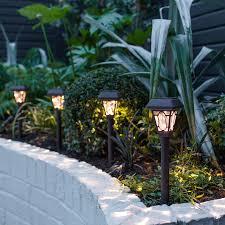 4 edwardian solar stake lights lights4fun co uk