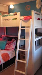 ana white loft bed w bookcase and headboard diy projects
