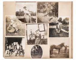antique photo album vintage photo album page antique family and animals pictures