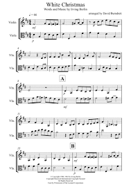 download white christmas for violin and viola duet sheet music by