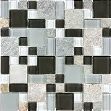 shop anatolia tile cool spring mixed pattern mosaic stone and