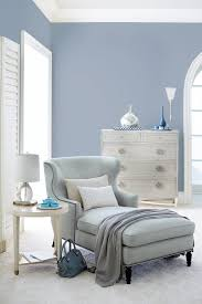 bernhardt nadine chaise in a pale blue woven criteria drawer