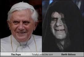 Darth Sidious Meme - the pope totally looks like darth sidious internet memes