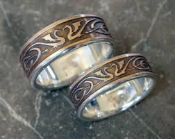 Viking Wedding Rings by Wolf Ring With Viking Design Unique Mans Wedding Ring
