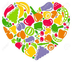 fruits and vegetables heart clipart clipartxtras