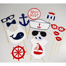 nautical baby shower nautical baby shower props photobooth baby shower sailor