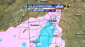 Weather Map Atlanta by Atlanta Weather Update Mayor Governor Urge Drivers To Stay Off