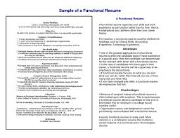 functional resume free resume example and writing download