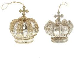 world silver gold crown ornament set glass princess king