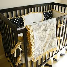 Black And Yellow Crib Bedding Yellow Black Toile Crib Bedding Central Park Baby Bedding