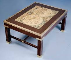 Map Coffee Table Antique Style Coffee Table With World Map