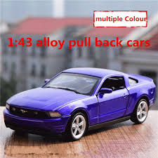 1 43 alloy pull back cars high simulation ford mustang model 2