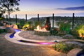 Outdoor Water Features With Lights by Custom Fire Feature Fire Pits Pizza Ovens Gallery Western Outdoor