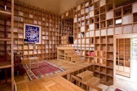 Moving Bookshelves Shelf Pod Built From A Lattice Of Structural Bookshelves Treehugger