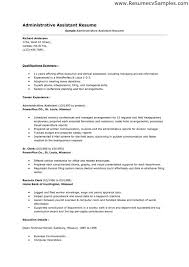 Free Sample Resume For Administrative Assistant by Template For Resume Example Resume Format For Internship Free