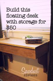 Floating Desk Diy Diy Floating Desk Vanity With Storage Sawdust