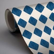 Tile Decals Quadrostyle Moroccan Agadir by Mexican Diamond Wallpaper In Indigo Blue Removable Vinyl