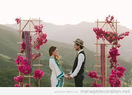 mariage hippie idées pour décorer un mariage hippie à la montagne décoration