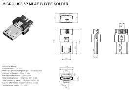 micro usb charging socket dimensions lighting project