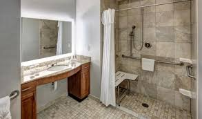 ada roll in shower bathroom picture of homewood suites by