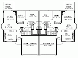 classy design duplex bungalow house plans 10 simple duplex house