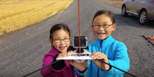 sisters spend labor day weekend launching kids space program
