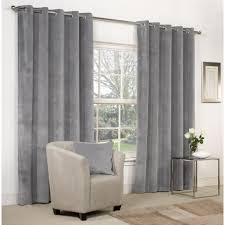 Grey Curtains 90 X 90 Mesola Velvet Dove Grey Eyelet Curtains Next Day Delivery Mesola