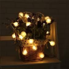 warm white light 20 led dandelion tree shaped string