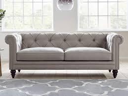 modern chesterfield sofa abraham upholstered sofa living it up