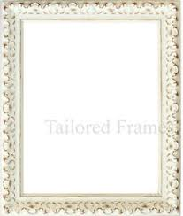 vintage ornate shabby chic white and black picture photo frames