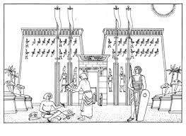 temple khonsu egypt coloring education art