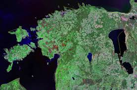 Estonia On The World Map by Estonia Map And Satellite Image