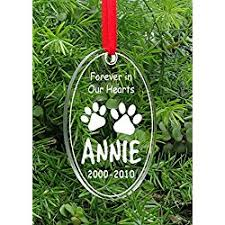 memorial christmas ornaments personalized christmas memorial dog ornaments let s personalize that
