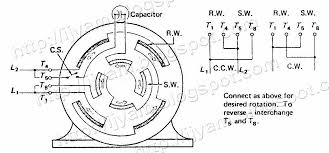 capacitor start motor wiring diagram start run diagram wiring