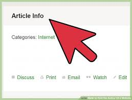 how to find the author of a website 14 steps with pictures