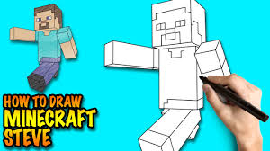 how to draw minecraft steve easy step by step drawing lessons