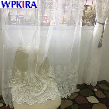 Embroidered Sheer Curtains European Embroidered Sheer Curtains For Living Room Window