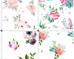 Modern Floral Curtain Panels Floral Curtains Etsy