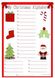 14 free esl christmas alphabet worksheets