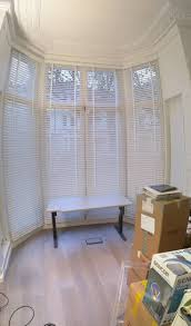 35 best bay window blinds images on pinterest bay window blinds chalk wood venetian blinds large bay window 3 5m high primrose hill