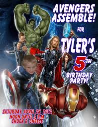 Personalized Birthday Invitation Cards Avengers Personalized Photo Birthday Invitations 1 29 Welcome