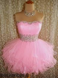 pink short prom dresses puffy naf dresses