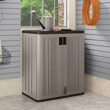 Storage Cabinets Amazon Com Suncast Base Storage Cabinet Platinum Home U0026 Kitchen