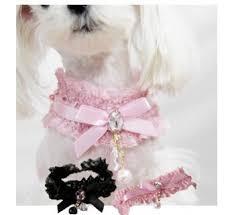 dog ribbon 2018 dog bowtie lace ribbon necklace pet cat puppy diamond