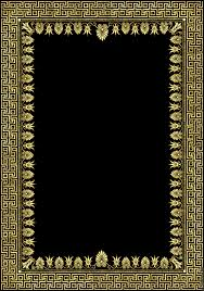 Ancient Greek Marble Mosaics 1 Olympia full page border